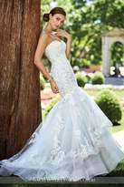 David Tutera for Mon Cheri Lace Mermaid Gown