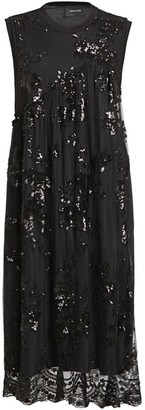 Simone Rocha Sequin Cotton Midi Dress