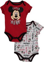 "Disney Mickey Mouse Baby Boys' ""Little Hunk"" 2-Pack Bodysuits"
