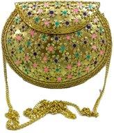 Generic Indian Vintage style Handmade stylish Ethnic Metal Clutch cum Sling Bag ,Purse, Evening bag