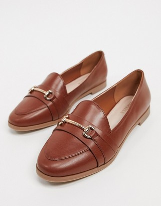 Carvela midas metal trim loafers in tan