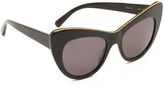 Stella McCartney Chain Cat Eye Sunglasses