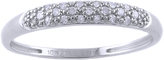 Diamond Domed Wedding Band in 10K White Gold by Moda Di Oro
