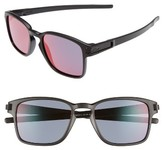 Oakley Women's Latch 52Mm Rectangular Sunglasses - Matte Black/ Iridium P