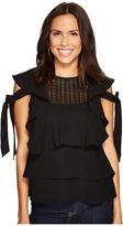 J.o.a. Ruffle Top Women's Clothing