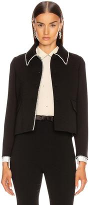 Miu Miu Long Sleeve Jewel Jacket in Black | FWRD