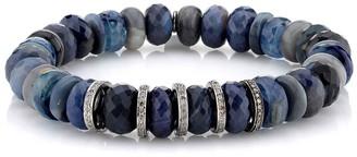 Sheryl Lowe Blue Opal & Sapphire Beaded Bracelet