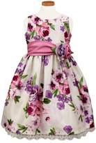 Sorbet Girl's Floral Print Crochet Hem Dress