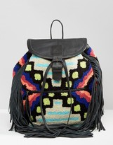 Cleobella Cornel Carpet & Tassel Backpack