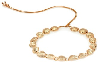 Tohum Design Beach Shell 22k gold necklace