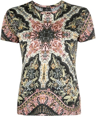 Etro Paisley-Print Cotton T-Shirt