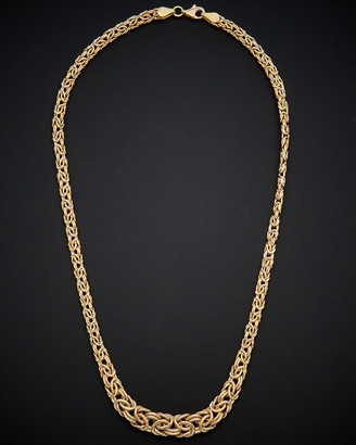 Italian Gold 14K Graduated Byzantine Necklace
