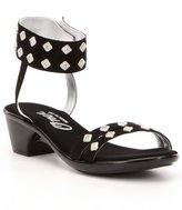 Onex Verona Studded Faux Suede Ankle-Strap Sandals