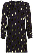 Alice + Olivia Beatrix Puff-Sleeve Shift Dress