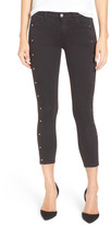 J Brand Alba Mid Rise Embellished Crop Ankle Jean