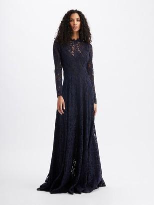 Oscar de la Renta Eyelet Lace Gown