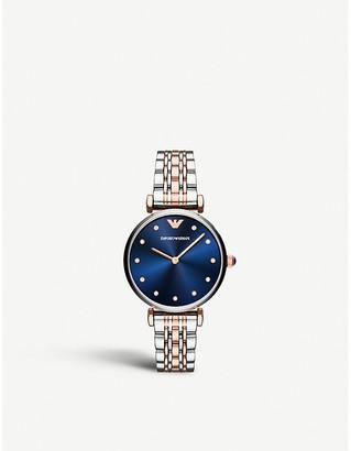 Emporio Armani AR11092 Gianni T-bar stainless steel two-tone bracelet watch