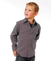 Roper Red Geometric Button-Up - Boys