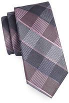 Michael Michael Kors Plaid Silk-Cotton Tie