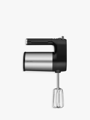 John Lewis & Partners Hand Mixer, Black/Stainless Steel