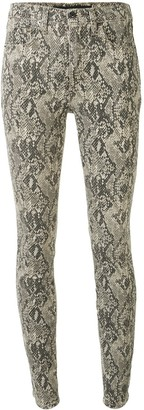 Veronica Beard Snakeskin-Effect Skinny Jeans