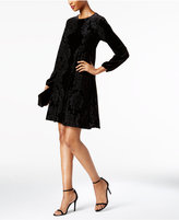 Taylor Burnout Velvet Trapeze Dress