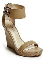 GUESS Women's Delwen Ankle Strap Wedges
