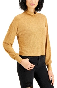 Self Esteem Juniors' Ribbed Bishop-Sleeve Top