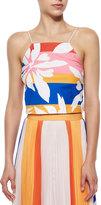 Elle Sasson Marrisa Flower-Stripes Top