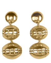 Josie Natori Gold Brass Double Cage Earrings