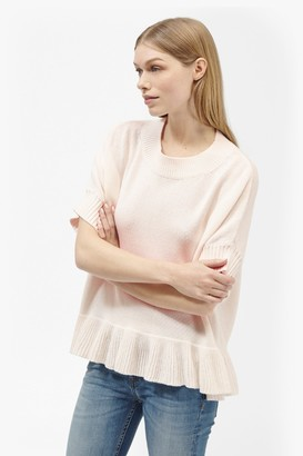 French Connection Frill Knits Short Sleeve Jumper