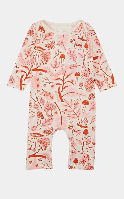 Factory Winter Water Infants' Leaf-&-Bug-Print Organic Cotton Coverall - Pink