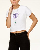 Bravado Justin Bieber Purpose Tour Juniors' Staff Cotton Crop Top