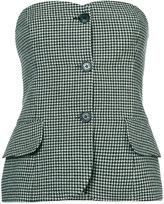 Ralph Lauren houndstooth strapless top