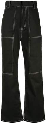 G.V.G.V. contrast stitch trousers