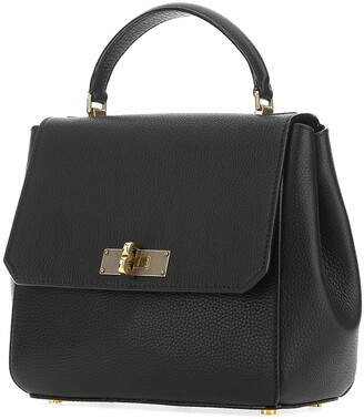 Bally Fold-Over Top Handle Handbag