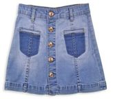 7 For All Mankind Little Girl's & Girl's A-Line Denim Mini Skirt