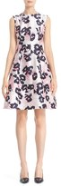 Oscar de la Renta Women's Floral Print Silk & Cotton Mikado Dress