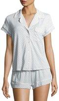 Eberjey Cabana Girl Printed Short Pajama Set, Chambray