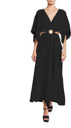 3.1 Phillip Lim Crepe A-line Cutout Maxi Dress