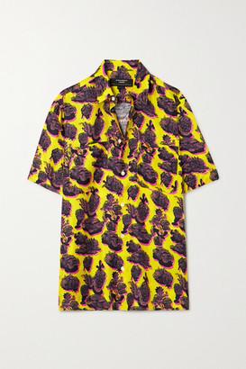 Stella McCartney Ricky Printed Silk-twill Shirt - Yellow