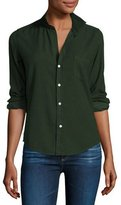 Frank And Eileen Barry Cotton Oxford Shirt, Emerald Green