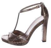 Gucci Metallic Embossed Sandals