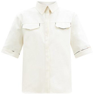 Sir. Maurice Piped Cotton-canvas Shirt - Ivory
