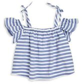 Milly Minis Toddler's, Little Girl's & Girl's Striped Chambray Shirting Eden Top