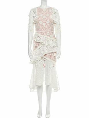 Alexis Lace Pattern Long Dress w/ Tags White