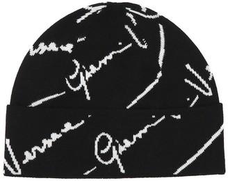 Versace Jacquard Logo Beanie