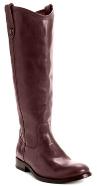 Frye Women's Melissa Wide Calf Riding Leather Boots Women's Shoes