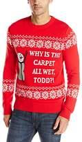 Alex Stevens Men's Wet Carpet Todd Ugly Christmas Sweater