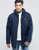 Fred Perry Parka In Bright Navy